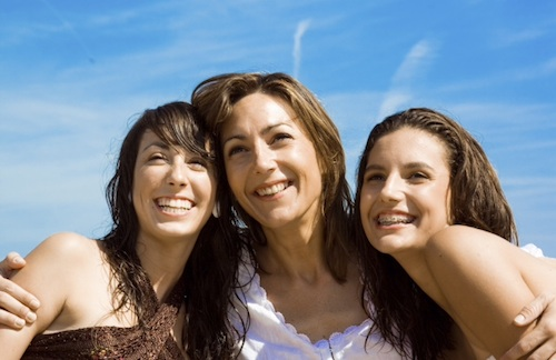 mom with teen girls